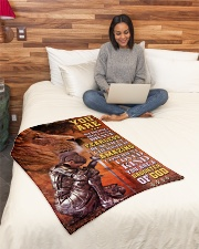"""JES10097 - You Are A Daughter Of God Small Fleece Blanket - 30"""" x 40"""" aos-coral-fleece-blanket-30x40-lifestyle-front-08"""