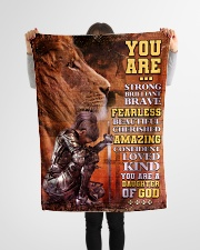 """JES10097 - You Are A Daughter Of God Small Fleece Blanket - 30"""" x 40"""" aos-coral-fleece-blanket-30x40-lifestyle-front-14"""