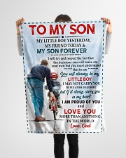 """FBC10037 - To My Son Love Dad Small Fleece Blanket - 30"""" x 40"""" aos-coral-fleece-blanket-30x40-lifestyle-front-14"""