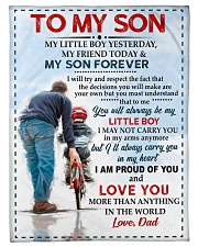 """FBC10037 - To My Son Love Dad Small Fleece Blanket - 30"""" x 40"""" front"""