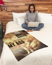"Jes10092 - Jesus Way Maker Miracle Worker Small Fleece Blanket - 30"" x 40"" aos-coral-fleece-blanket-30x40-lifestyle-front-08"
