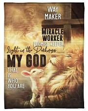"""Jes10092 - Jesus Way Maker Miracle Worker Small Fleece Blanket - 30"""" x 40"""" front"""