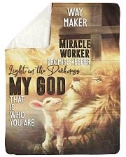 Jes10092 - Jesus Way Maker Miracle Worker Sherpa Fleece Blanket tile