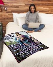 "JES10043BL - Jesus Christ  Small Fleece Blanket - 30"" x 40"" aos-coral-fleece-blanket-30x40-lifestyle-front-08"