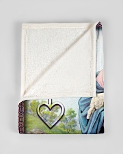 "JES10043BL - Jesus Christ  Small Fleece Blanket - 30"" x 40"" aos-coral-fleece-blanket-30x40-lifestyle-front-17"