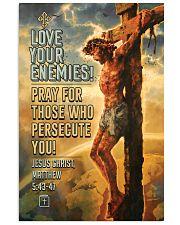 JES10005PT - Jesus Christ Love Your Enemies 11x17 Poster front