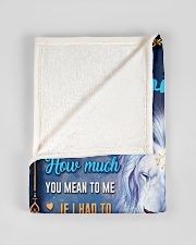 """BL10049P - To My Son Dad Letter Lion -Personalized Small Fleece Blanket - 30"""" x 40"""" aos-coral-fleece-blanket-30x40-lifestyle-front-17"""