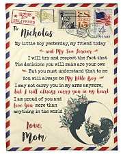 """FBL10073D To Nicholas Mom Letter Family Small Fleece Blanket - 30"""" x 40"""" front"""