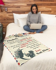 """FBL10021D To Elizabeth Love Mom Letter Family Small Fleece Blanket - 30"""" x 40"""" aos-coral-fleece-blanket-30x40-lifestyle-front-08"""