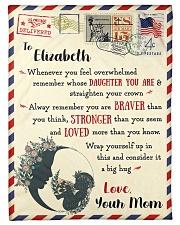 "FBL10021D To Elizabeth Love Mom Letter Family Small Fleece Blanket - 30"" x 40"" front"