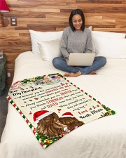 """BL10038 - To Daughter Love Mom Letter Christmas Small Fleece Blanket - 30"""" x 40"""" aos-coral-fleece-blanket-30x40-lifestyle-front-08"""