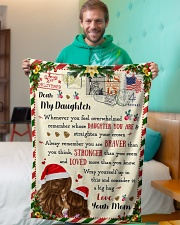 """BL10038 - To Daughter Love Mom Letter Christmas Small Fleece Blanket - 30"""" x 40"""" aos-coral-fleece-blanket-30x40-lifestyle-front-09"""