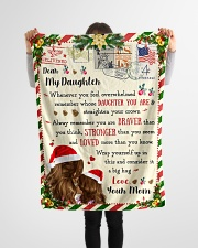 """BL10038 - To Daughter Love Mom Letter Christmas Small Fleece Blanket - 30"""" x 40"""" aos-coral-fleece-blanket-30x40-lifestyle-front-14"""