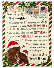 """BL10038 - To Daughter Love Mom Letter Christmas Small Fleece Blanket - 30"""" x 40"""" front"""