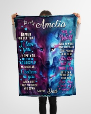 """BL10056N - To My Amelia Dad Letter Small Fleece Blanket - 30"""" x 40"""" aos-coral-fleece-blanket-30x40-lifestyle-front-14"""