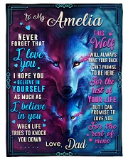 """BL10056N - To My Amelia Dad Letter Small Fleece Blanket - 30"""" x 40"""" front"""