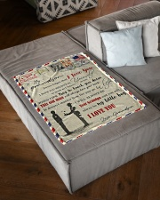 """FBL10051 To My Grandson Letter Family Small Fleece Blanket - 30"""" x 40"""" aos-coral-fleece-blanket-30x40-lifestyle-front-03"""