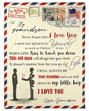 """FBL10051 To My Grandson Letter Family Small Fleece Blanket - 30"""" x 40"""" front"""
