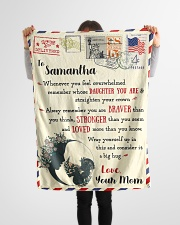 """FBL10021H To Samantha Love Mom Letter Family Small Fleece Blanket - 30"""" x 40"""" aos-coral-fleece-blanket-30x40-lifestyle-front-14"""