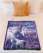 "BL10014- Beloved Granddaughter Unicorn 2 Small Fleece Blanket - 30"" x 40"" aos-coral-fleece-blanket-30x40-lifestyle-front-04"
