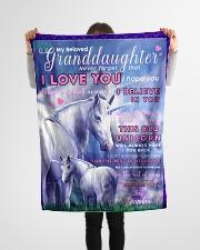 "BL10014- Beloved Granddaughter Unicorn 2 Small Fleece Blanket - 30"" x 40"" aos-coral-fleece-blanket-30x40-lifestyle-front-14"