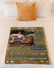 """BL10099 - To My Dad Fishing Love Son Small Fleece Blanket - 30"""" x 40"""" aos-coral-fleece-blanket-30x40-lifestyle-front-04"""