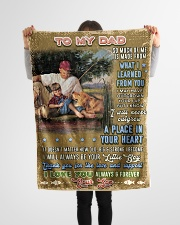 """BL10099 - To My Dad Fishing Love Son Small Fleece Blanket - 30"""" x 40"""" aos-coral-fleece-blanket-30x40-lifestyle-front-14"""