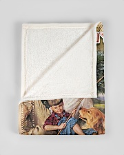 """BL10099 - To My Dad Fishing Love Son Small Fleece Blanket - 30"""" x 40"""" aos-coral-fleece-blanket-30x40-lifestyle-front-17"""