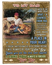 """BL10099 - To My Dad Fishing Love Son Small Fleece Blanket - 30"""" x 40"""" front"""