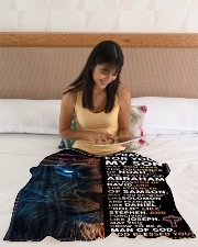 """JES10080BL - A Prayer For My Son Small Fleece Blanket - 30"""" x 40"""" aos-coral-fleece-blanket-30x40-lifestyle-front-12"""