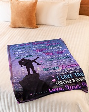 """BL10091 - To My Husband Whom My Soul Loves Small Fleece Blanket - 30"""" x 40"""" aos-coral-fleece-blanket-30x40-lifestyle-front-01"""