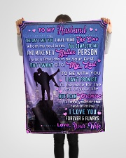 """BL10091 - To My Husband Whom My Soul Loves Small Fleece Blanket - 30"""" x 40"""" aos-coral-fleece-blanket-30x40-lifestyle-front-14"""