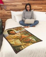 "JES10038BL - Jesus Christ  Small Fleece Blanket - 30"" x 40"" aos-coral-fleece-blanket-30x40-lifestyle-front-08"