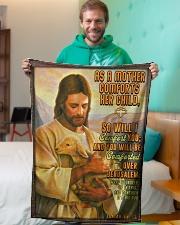"JES10038BL - Jesus Christ  Small Fleece Blanket - 30"" x 40"" aos-coral-fleece-blanket-30x40-lifestyle-front-09"