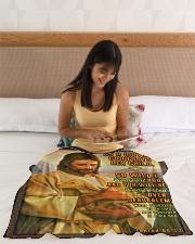 "JES10038BL - Jesus Christ  Small Fleece Blanket - 30"" x 40"" aos-coral-fleece-blanket-30x40-lifestyle-front-12"