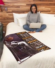 """JES10095 - You Are A Daughter Of God Small Fleece Blanket - 30"""" x 40"""" aos-coral-fleece-blanket-30x40-lifestyle-front-08"""