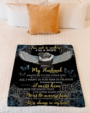 """FAM10110BL - I'm Not A Widow Small Fleece Blanket - 30"""" x 40"""" aos-coral-fleece-blanket-30x40-lifestyle-front-04"""