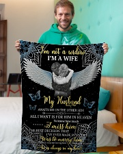"""FAM10110BL - I'm Not A Widow Small Fleece Blanket - 30"""" x 40"""" aos-coral-fleece-blanket-30x40-lifestyle-front-09"""