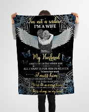 """FAM10110BL - I'm Not A Widow Small Fleece Blanket - 30"""" x 40"""" aos-coral-fleece-blanket-30x40-lifestyle-front-14"""