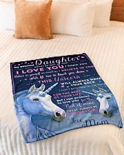 """BL10013 - Beloved Daughter Unicorn 1 Small Fleece Blanket - 30"""" x 40"""" aos-coral-fleece-blanket-30x40-lifestyle-front-01"""