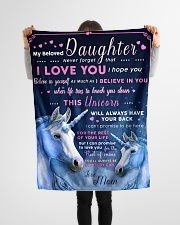 """BL10013 - Beloved Daughter Unicorn 1 Small Fleece Blanket - 30"""" x 40"""" aos-coral-fleece-blanket-30x40-lifestyle-front-14"""
