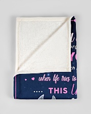 """BL10013 - Beloved Daughter Unicorn 1 Small Fleece Blanket - 30"""" x 40"""" aos-coral-fleece-blanket-30x40-lifestyle-front-17"""