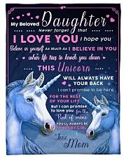 "BL10013 - Beloved Daughter Unicorn 1 Small Fleece Blanket - 30"" x 40"" front"