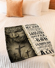 "JES10103 - Jesus Way Maker Miracle Worker Small Fleece Blanket - 30"" x 40"" aos-coral-fleece-blanket-30x40-lifestyle-front-01"