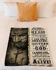 "JES10103 - Jesus Way Maker Miracle Worker Small Fleece Blanket - 30"" x 40"" aos-coral-fleece-blanket-30x40-lifestyle-front-04"