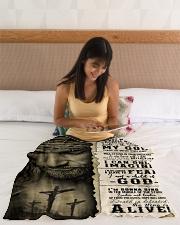 "JES10103 - Jesus Way Maker Miracle Worker Small Fleece Blanket - 30"" x 40"" aos-coral-fleece-blanket-30x40-lifestyle-front-12"