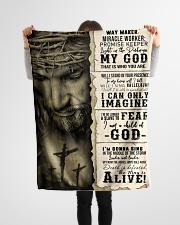 "JES10103 - Jesus Way Maker Miracle Worker Small Fleece Blanket - 30"" x 40"" aos-coral-fleece-blanket-30x40-lifestyle-front-14"