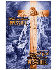 JES10034PT - Jesus Christ All Things Possible 11x17 Poster front