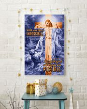 JES10034PT - Jesus Christ All Things Possible 11x17 Poster lifestyle-holiday-poster-3