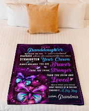 """BL10063 - Granddaughter Butterfly Night Grandma Small Fleece Blanket - 30"""" x 40"""" aos-coral-fleece-blanket-30x40-lifestyle-front-04"""